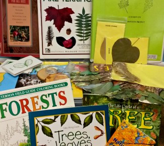 a stack of books about trees